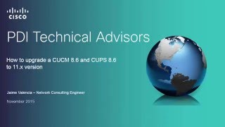 How to upgrade a CUCM/CUPS 8.6 to CUCM/IM&P 11.0
