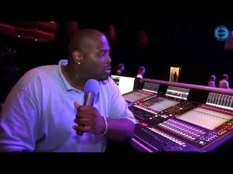 Kyle Hamilton, FoH for Pharrell Williams, at Montreux Jazz Festival 2014