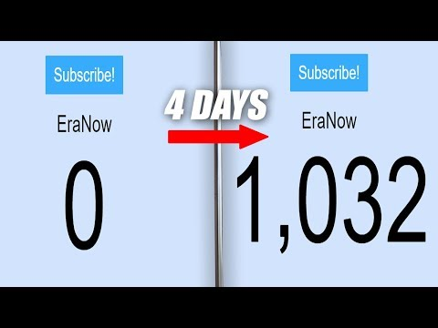 (WORLD RECORD) - Growing my YouTube Channel to 1000 Subscribers in 4 days
