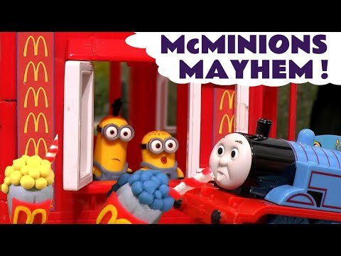 Minions McDonalds Drive Thru with Play Doh Stop Motion Thoma