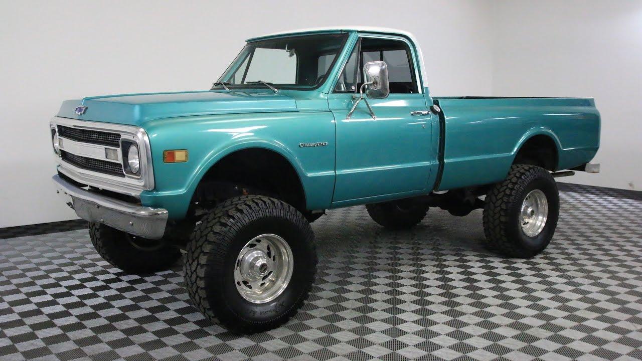 1969 chevrolet c20 pickup green [ 1280 x 720 Pixel ]