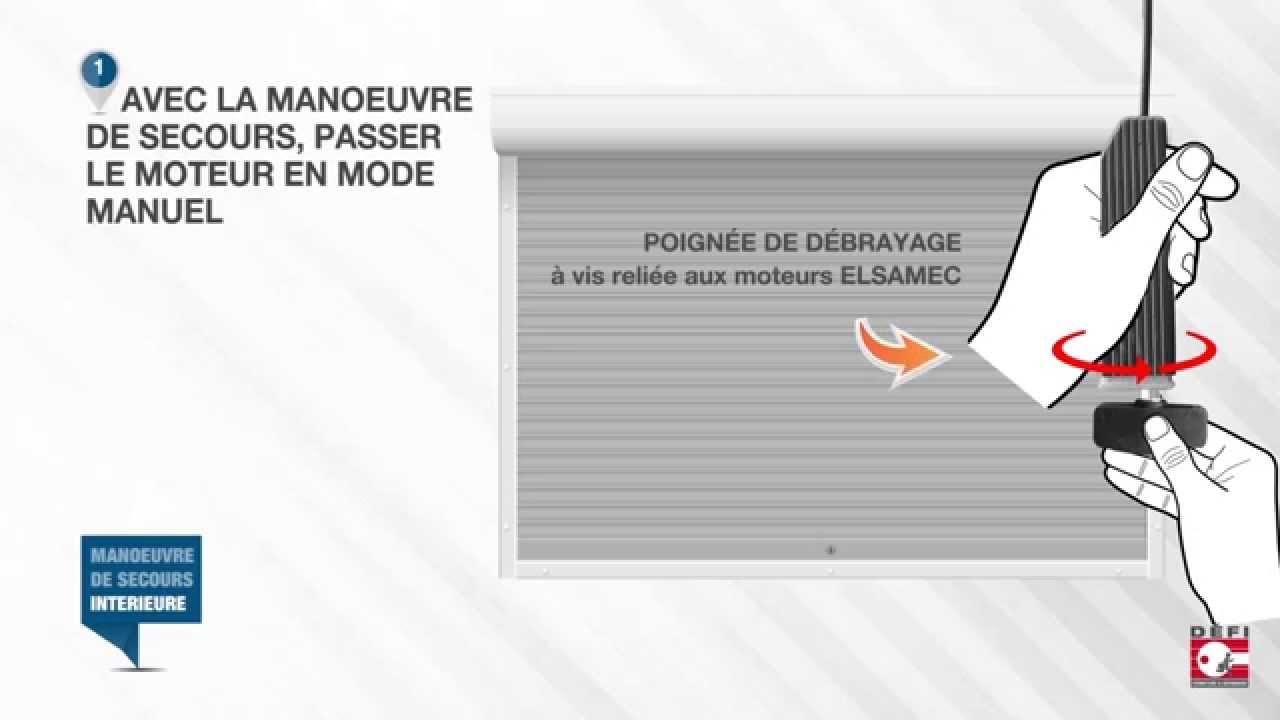 Rideau metallique panne electrique youtube for Rideau electrique garage