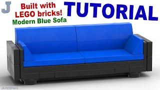 Tutorial - Lego Modern Blue Sofa