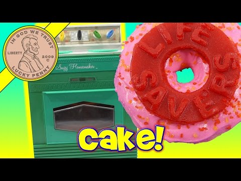 Easy Bake Life Saver Gummy Cakes Baked In A Suzy Homemaker Electric Kids Toy Oven