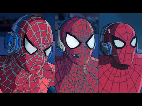 SPIDERVERSE TOBEY, ANDREW Y TOM HOLLAND JUGANDO FORTNITE | FactyKilian
