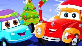 Runaway Christmas Tree | Super Car Royce Cartoon Videos