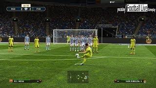 PES 2019   Real Sociedad vs Barcelona   Messi Free Kick Goal   Gameplay PC