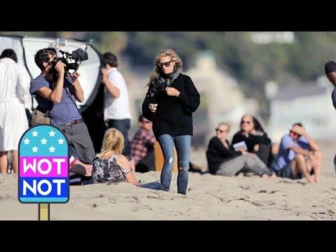 Heidi Klum Directs A Beach Shoot in Malibu for Germany's Next Top Model