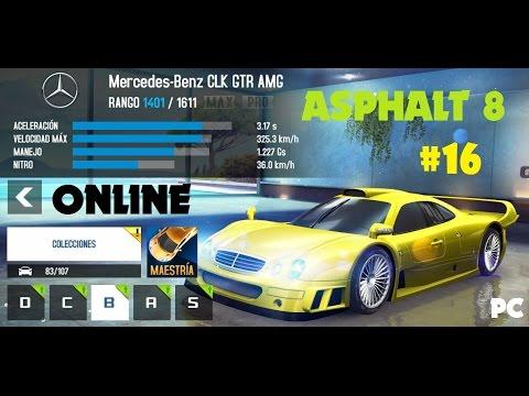 asphalt 8 gameplay online mercedes benz clk gtr pc youtube. Black Bedroom Furniture Sets. Home Design Ideas