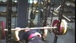Brooks Kubik Bottom Bench Press 206kg (455lb) DRUG