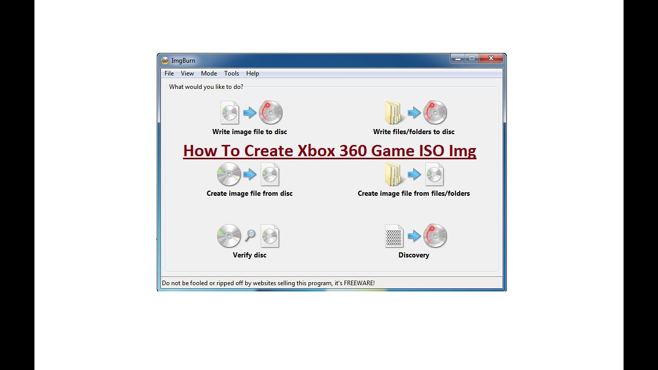 How To Create Xbox 360 Game ISO Image