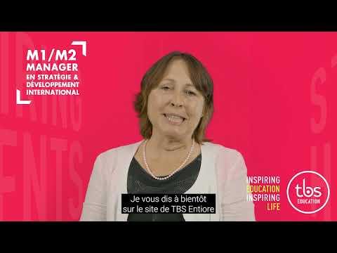 Sylvie RECOULES, Directrice Académique du M1/M2 Manager en Stratégie & Développement International
