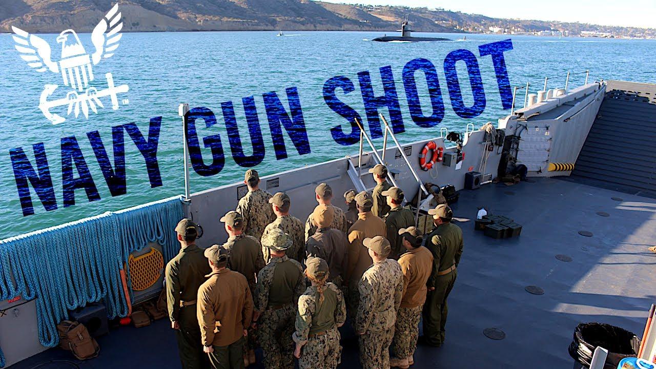 Navy Gun Shoot on a Vietnam Era Landing Craft (LCU-1617)