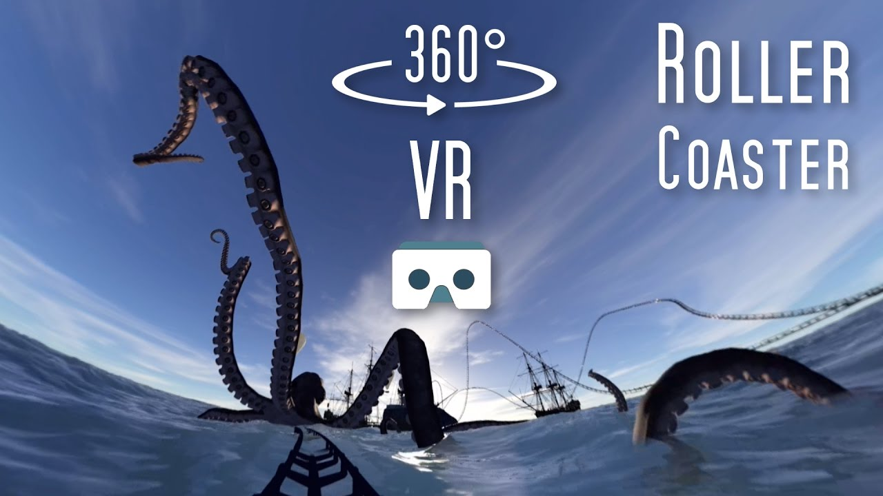 bdff07cbcea 360 VR Roller Coaster  Virtual Reality scary 360 video for Cardboard   Samsung  Gear VR Box