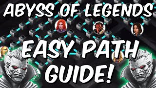 Abyss of Legends Easy Path Completion Guide - Initial Clear Breakdown -Marvel Contest of Champions