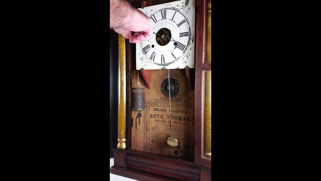 Seth Thomas Brass Movement Weight Driven Clock Chime
