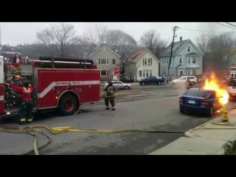 Chelsea car fire Route 1 March 27, 2015