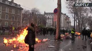 Yellow Vests protesters march in Paris