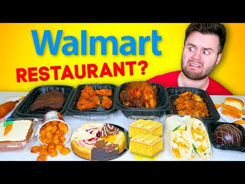 I Went To Walmart's RESTAURANT And Tried Everything... CHEAP FOOD TASTE TEST