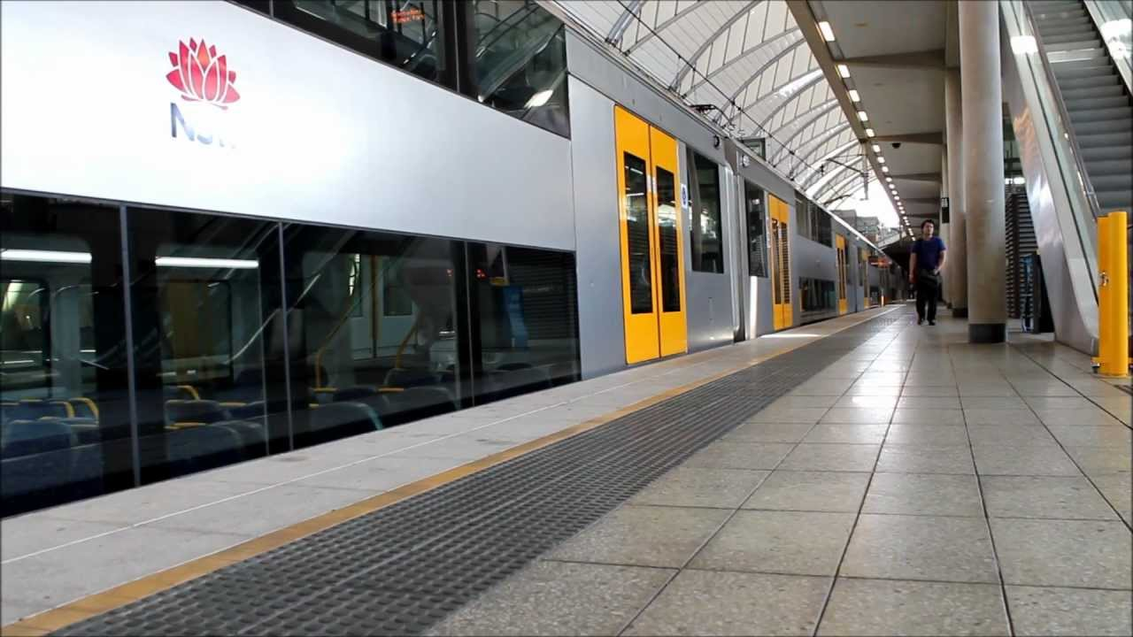 CityRail A Set Waratah Train Arriving At Olympic Park Station 1