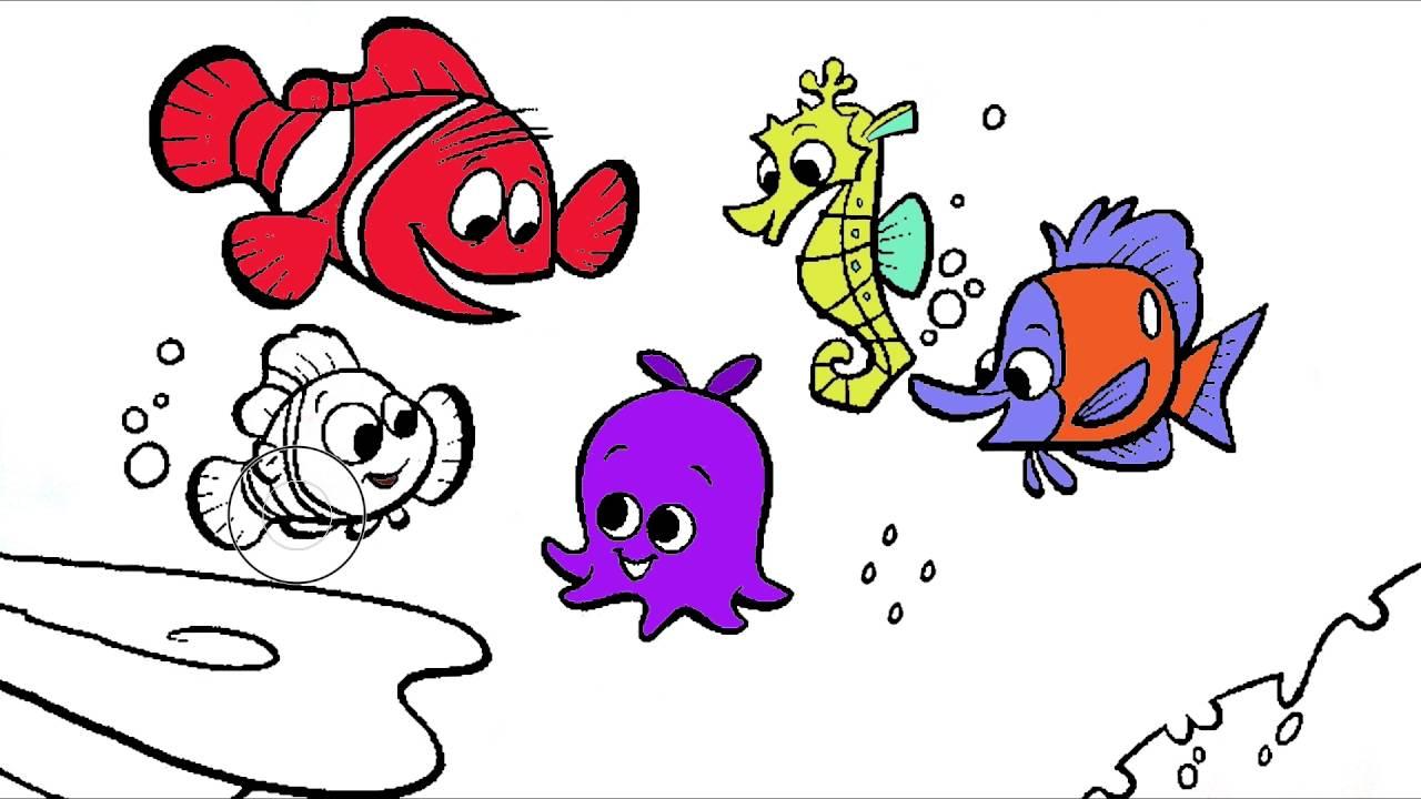 Kayıp Balık Nemo çizgi Film Karakter Boyama Sayfası 4 Minik Eller