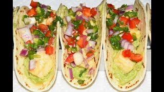 Fish Tacos With Fresh Salsa And Guacamole - Easy Fish Tacos