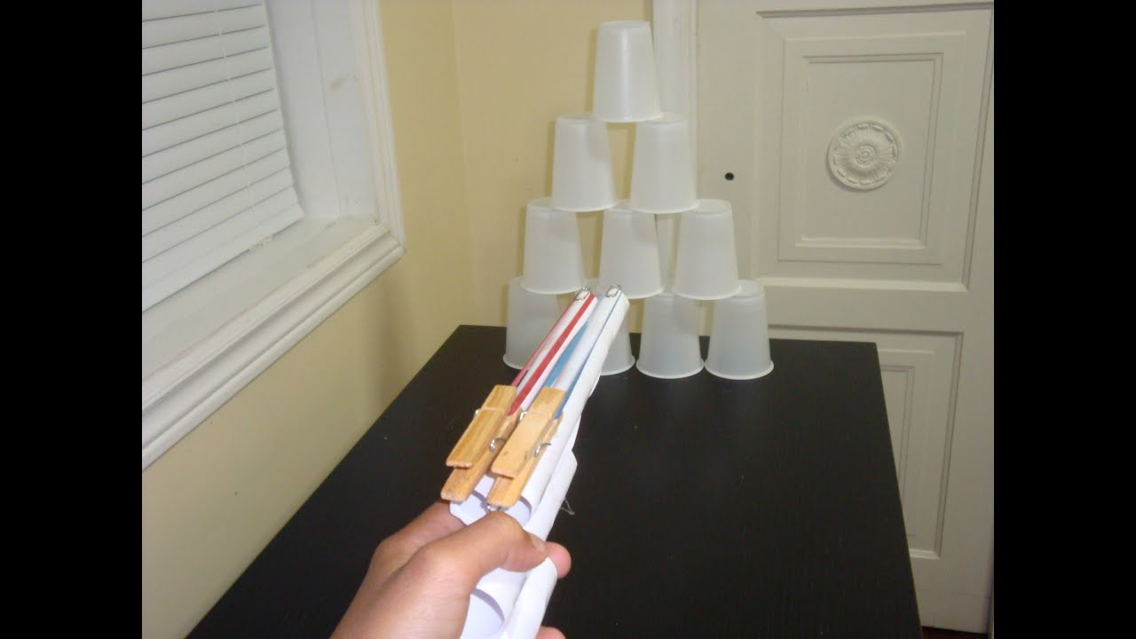 Making A Gun That Shoots Elastic Bands Out Of Paper Youtube