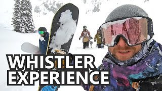 First Whistler Powder Snowboarding Experience