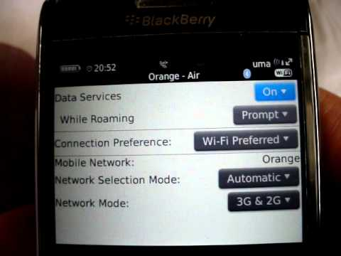 blackberry 9700 manual network selection