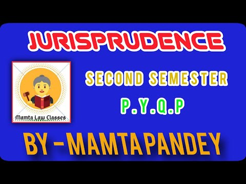 TIPS &TRICKS FOR Jurisprudence Part 2 || Pre. Year Q. Paper || LL.B. Second Semester||