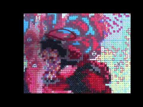 대형십자수 공작과 모란 - 198일차 / Cross Stitch Peacock  and Peony  DAY 198