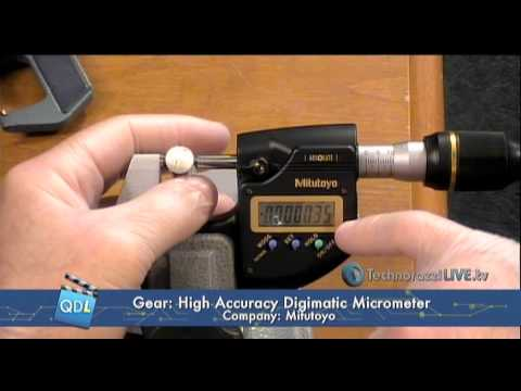 Mitutoyo America's 0.1 μm High Accuracy Digimatic Micrometer
