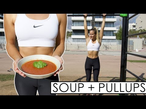 WHAT I ATE AND TRAINED|Tomato Soup Recipe
