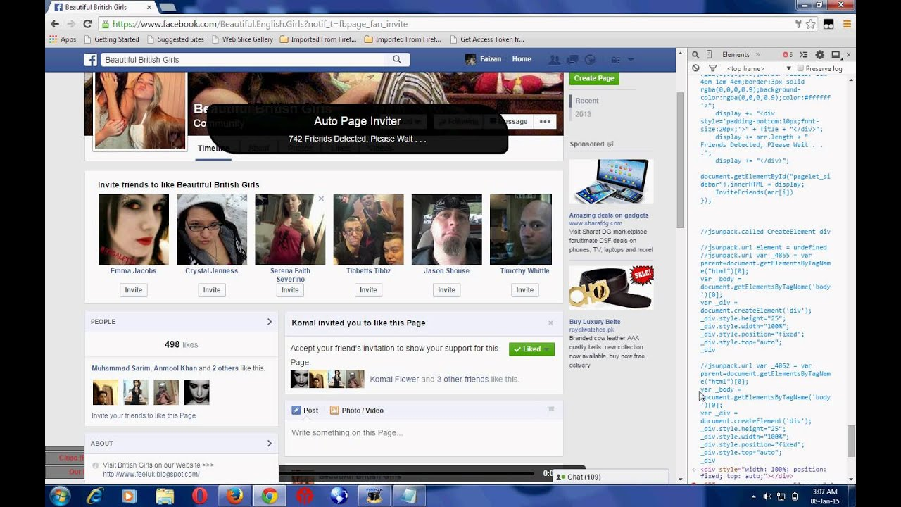 Auto Invite all Facebook Friends on Fan Page of Facebook ...
