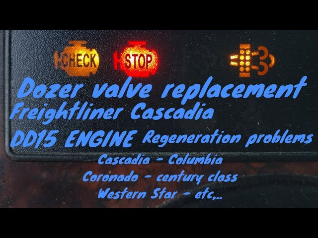Freightliner Cascadia DD13 DD15 DD16 ENGINE Dozer valve removal replacement  spn 4077 fmi 14