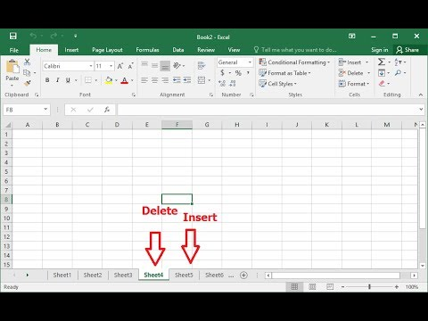 how to insert delete sheets in ms excel by shortcut key hindi youtube. Black Bedroom Furniture Sets. Home Design Ideas