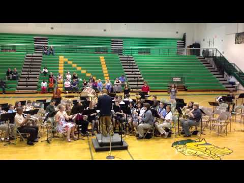 Northside Middle School Band Roanoke, Virginia Plays 'The Phantom of the Opera'