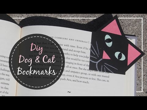 How To Make Dog & Cat Bookmarks // Back to School 2016