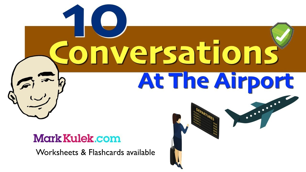 At The Airport - 10 Short Conversations | English Speaking Practice | ESL