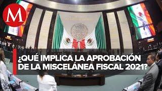 Diputados aprueban en lo general miscelánea fiscal 2021