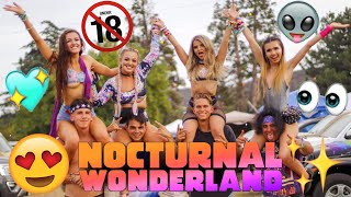 NOCTURNAL WONDERLAND 2019 RAVE VLOG + CAMPING! (MY EXPERIENCE)