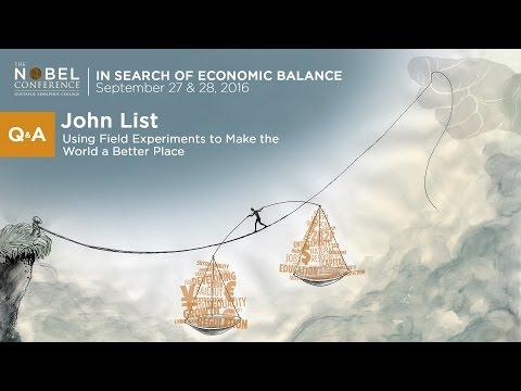 John List, PhD Q & A at Nobel Conference 52