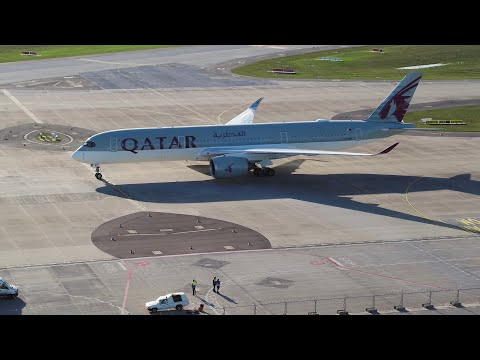 Touchdown at Berlin Brandenburg Airport with our Airbus A350 | Qatar Airways