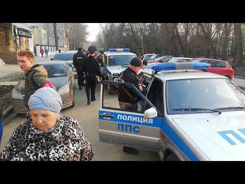 Задержание дебоширки на улице Волжской в Саратове