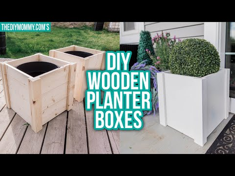 DIY WOODEN PLANTER BOX | Outdoor DIY & Decor Challenge