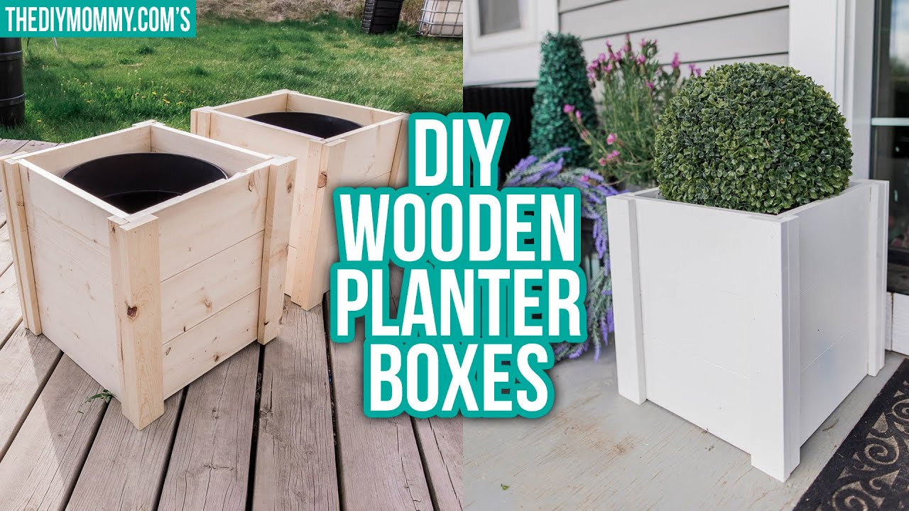 Diy Wooden Planter Box Outdoor