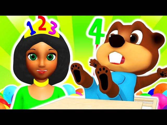 Princess 123s Learn Numbers | Teach Counting for Toddlers, Learn Colors, ABC Song by Busy Beavers