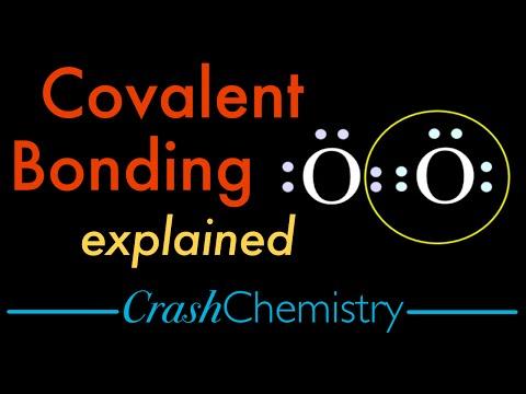 Covalent Bonding Tutorial — Covalent vs. Ionic bonds, explained | Crash Chemistry Academy