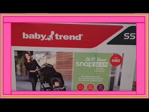 UNBOXING And ASSEMBLY OF SIT N' STAND SNAP GEAR DOUBLE STROLLER - Adam & KT