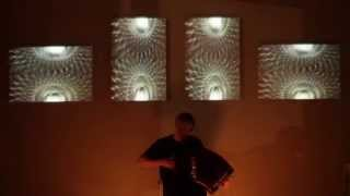 Sergey Gromovs musical improvisation and my abstract video set.